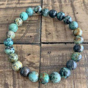 African Turquoise Handmade Chakra Bracelet